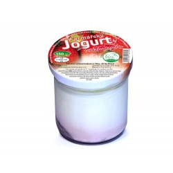 Farmářský jogurt s jahodami...